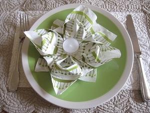Pliage-serviettes-fleur